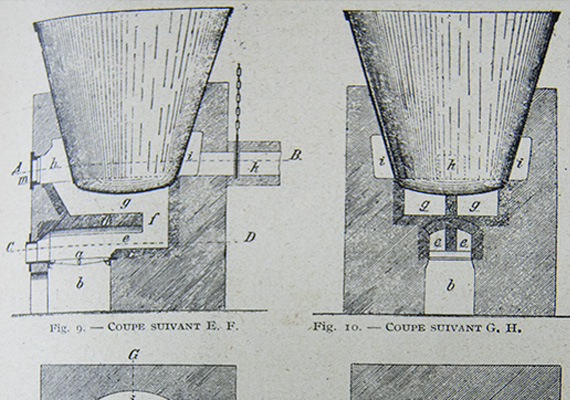 "Traditional soap cauldron. Drawing from W. Schrauth ""Manuel pour la fabrication des savons"" 1925"
